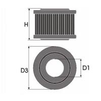 Sportovní filtr Green CITROEN JUMPER 1.9L D výkon 51kW (70hp) typ motoru D9B/XUD9 rok výroby 94-02