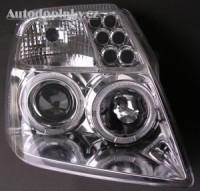 Přední světla (lampy) chrom s Angel Eyes Citroen C2